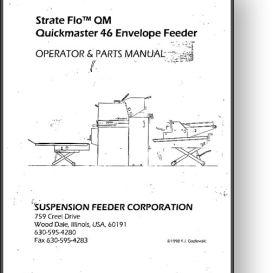 strate flo quickmaster 46 envelope feeder manual