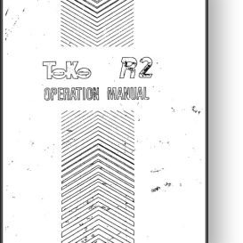 toko r2 offset press operator's and parts manual