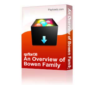 an overview of bowen family systems theory