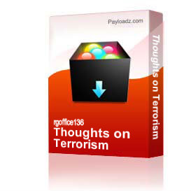 thoughts on terrorism