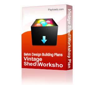 Vintage Shed/Workshop Plan #38 | Other Files | Everything Else