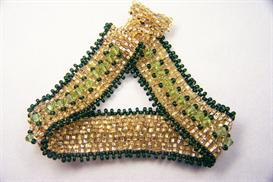 2-drop peyote bracelet with embellishments - pattern