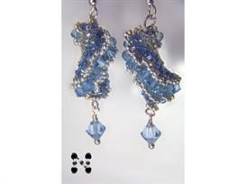 dutch spiral earrings with fine austrian crystals
