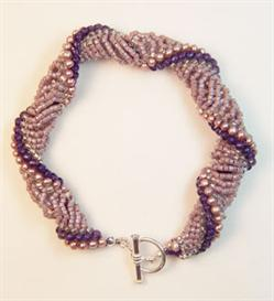 dutch spiral-purple and pink twist