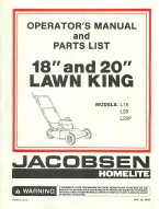 Jacobsen Homelite 18 and 20 Lawn King Mower Operator's Manual | Other Files | Documents and Forms