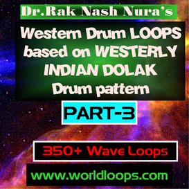 western drums in westerly  indian dolak pattern - part-3