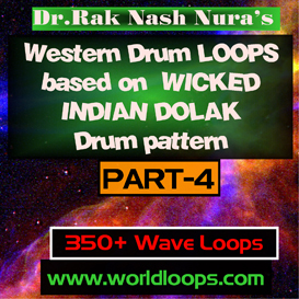 western drums in wicked  indian dolak pattern - part-4