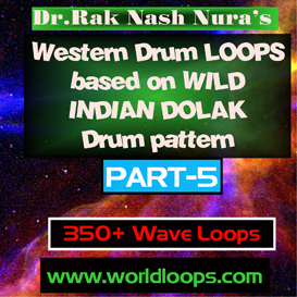 western drums in wild indian dolak pattern - part-5