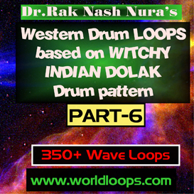 western drums in witchy  indian dolak pattern - part-6