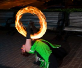 poi fire dancing lesson: beginner transitions, class 2