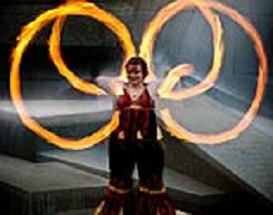 poi fire dancing lesson: beginner transitions series (classes 1 & 2)