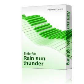 rain sun thunder lightning