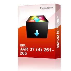 Jar 37 (4) 261-265 | Other Files | Everything Else