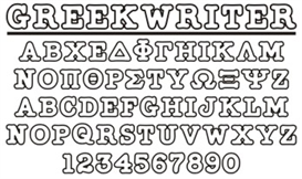 GreekHouse GreekWriter Outline | Other Files | Fonts