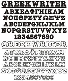GreekHouse GreekWriter Set | Other Files | Fonts