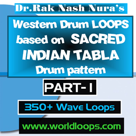 western drums in sacred tabla style loops - part-1