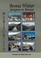 stock footage collections  bosnian winter sarajevo to mostar - royalty free stock footage