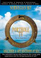 portholetv ship: norwegian sky asia tour and art auctions at sea