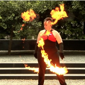 Poi Fire Dancing Lesson: 20110103 Combo (Advanced/Intermediate) | Movies and Videos | Educational