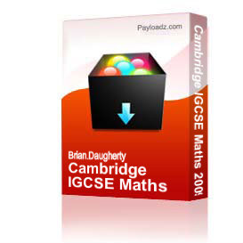 cambridge igcse maths 2009
