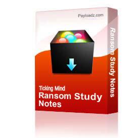 ransom study notes