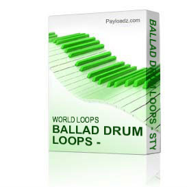 Ballad Drum Loops - Stylish | Music | Soundbanks