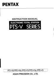 pentax electronic total station pts-v series instruction manual