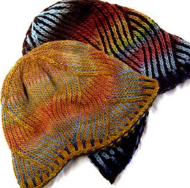 nepali striped wavy hat