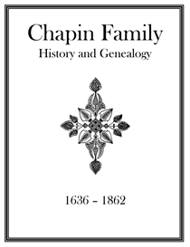 chapin family history and genealogy