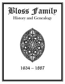 Bloss Family History and Genealogy | eBooks | History