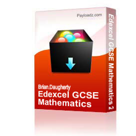edexcel gcse mathematics 2010 - higher level, model answers