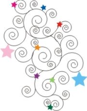 stars and swirls machine embroidery file