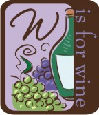 w is for wine machine embroidery file