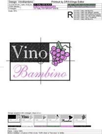 vino bambino machine embroidery file