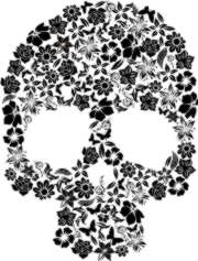 floral skull machine embroidery file