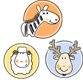 sheep-moose-zebra machine embroidery files