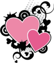 valentine pink hearts machine embroidery file