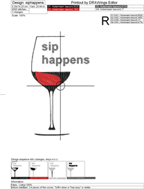sip happens machine embroidery file