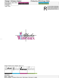 wineaux-alaska machine embroidery file