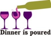 Dinner is Poured Machine Embroidery File | Other Files | Arts and Crafts