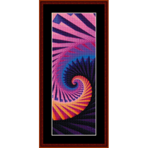 fractal 294 bookmark cross stitch pattern by cross stitch collectibles