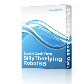 BillyTheFlyingRobotBB Opentype | Software | Design