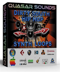 dirty south and hip hop synth hooks -  wave loops