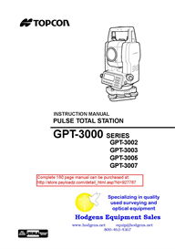 topcon gpt3000 series instruction manual