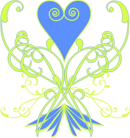 scroll heart 5