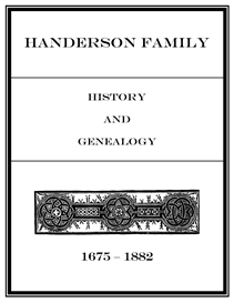 handerson family history and genealogy