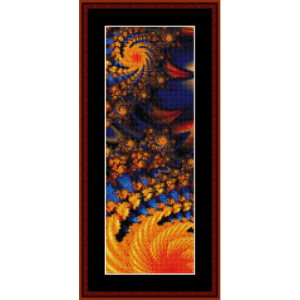 fractal 296 bookmark cross stitch pattern by cross stitch collectibles