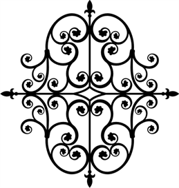 iron ornament 2 -all sizes