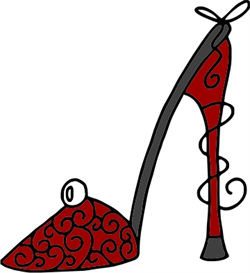 red, curly pump machine embroidery file