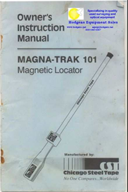 cst magna-trak 101 owner instruction manual